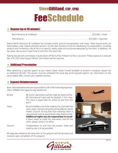 SGFeeSchedule-Bureau - Steve Gilliland